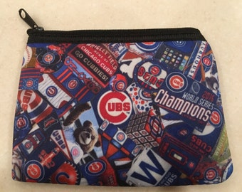 Chicago Cubs Zipper Wallet World Series Champs