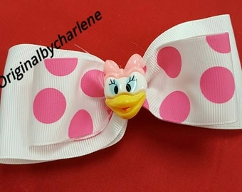 Boutique Daisy Duck Pink Dotted Hairbow