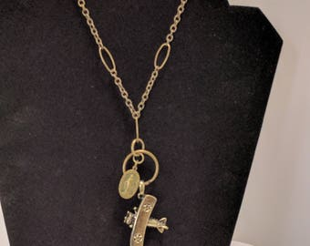WING and a PRAYER Necklace - Wing Walker - Religious Medal - Biplane - Two Wing Biplane with Wing Walker