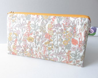 Liberty Lawn 'Flowers B' zippered pencil case