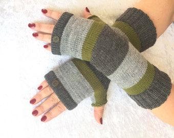 Fingerless gloves   men's,Hand knit gloves