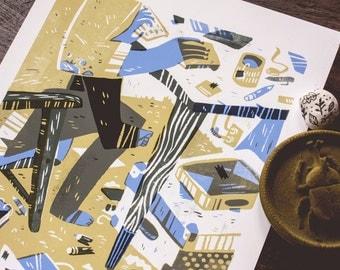 Desk - archival art print