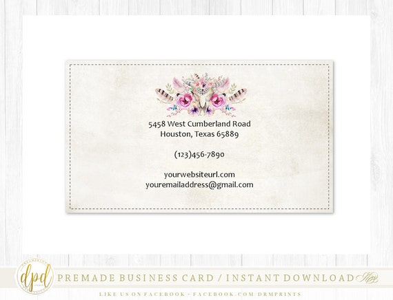 Custom Premade Blank DIY Single Sided Business Card | Business Template | Business Branding | Business Graphics | INSTANT DOWNLOAD-AA115
