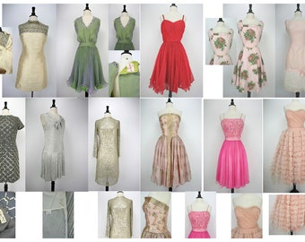 50s 60s Vintage Dress Lot 11 Pieces Condition from Theater / Costume / Fixer/ Good/wearable (all need fixing) 1950s 1960s Dresses Destash
