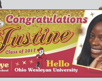 Graduation banner (digital or print)