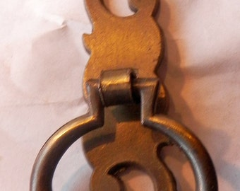 Mp2003s Rustic 1 5 Quot Ring Pull With 2 Quot Backplate From