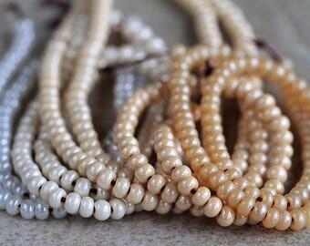 6/0 Shell Seed Beads Mix, Czech Rocailles, Preciosa seed beads, 4mm (100g)