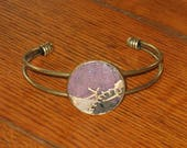 Primitive Quilt Bracelet Bangle Cuff Handmade Jewelry Gift For Her Mothers Day Antique Quilt Jewelry Under 15 With Gift Box
