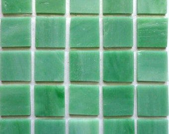 "20mm (3/4"") Mint Green TIFFANY STAINED GLASS Mosaic Tiles//Machine Cut Tiles//Mosaic Pieces//Mosaic Supplies"