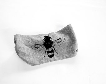 Bee Head Band - Womens Head Band-  Unisex - Heather Grey Bumble Bee, Honey Bee - turban - hat - headwear - hair accessories