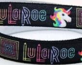 "50 Yards 5/8"" LuLaRoe  FOE Fold Over Elastic Hair Ties Unicorn DIY Wholesale Bulk Thank You Gifts Party Favors Business Cards LULAROE"