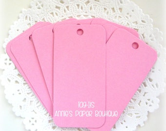 Pink Hang Tags {25} - Parcel, Gift, Gift Giving, Cardstock, Blank Tag, Shipping, Inventory, Package, Treats, Favors, Showers, Party