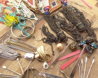 Vintage Jewelry Lot. Chain Destash Lot. All Chain Drops Charms. Chain Findings. D96