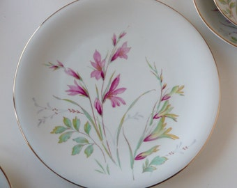 Edelstein Bavaria China Alamedo Dinner Plate Mid Century Germany Floral Spray