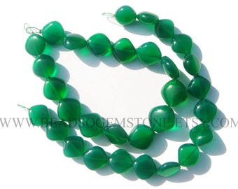 Green Onyx Smooth Cushion (Quality AAA) / 11 to 13 mm / 18 cm / GR-077