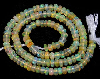 Ethiopian Opal Smooth Roundel (Quality AAA) / 4.5 to 6 mm / 36 cm / ET-089