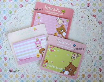 Rilakkuma Removable Adhesive Paper - Memo Pad - Sticky Note - Post It - Planner - Diary Planner - Bookmark - Ready to ship