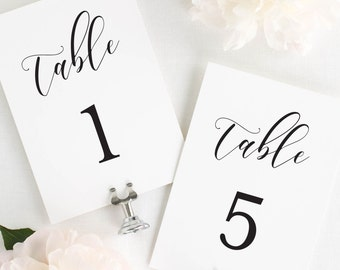 """Everly Table Numbers - 5x7"""""""