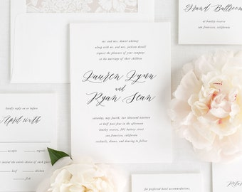 Lauren Wedding Invitations - Sample