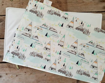 Diaper Changing Pad - Woodland Baby -Nappy Changing Mat - Waterproof Play Mat - Portable Baby Changing Pad -Baby Changing Pad - Baby Shower