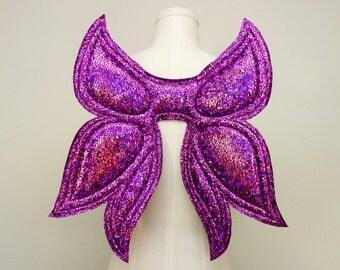 Petite Fairy Wings, Purple Wings, costume wings, Halloween Costume, festival wear, rave wear, cosplay wings, cosplay fairy, butterfly wings