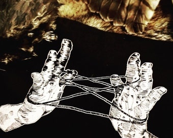 Cat's Cradle >> Hands >> Backpatch for Witches & Punks