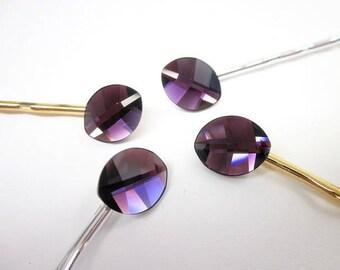 Purple Hair Pin -- Swarovski Hair Pin -- Purple Crystal Hair Accessory -- Purple Bobby Pin -- Swarovski Bobby Pin -- Leaf Bobby Pin