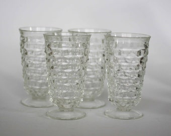 vintage fostoria american water glass or goblet set of four