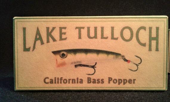 Lake tulloch california fishing lure boxes rustic cabin decor for Lake tulloch fishing