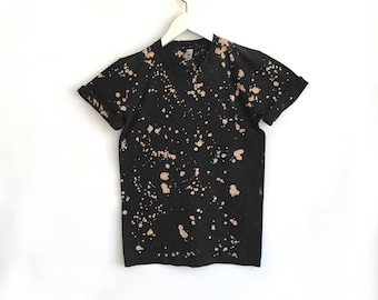 Black and Tan Speckled Tshirt in Small