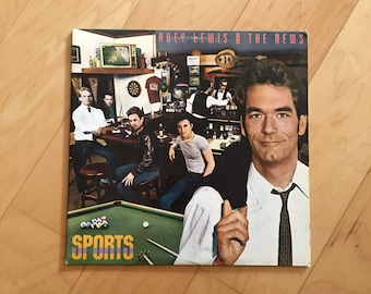 Vintage Huey Lewis & The News Sports Vinyl LP Record