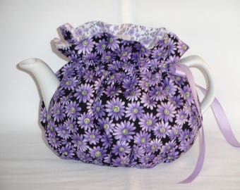 2 Cup Pretty Lavender Daisies Reversbile Teapot Cozy