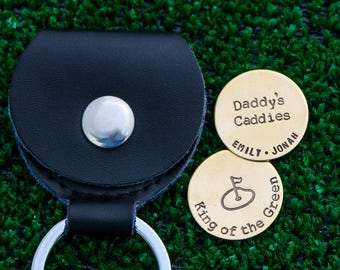 SALE • Golfer Gift Golf Ball Markers Dad Gift Daddy •Father's Day Gift Custom Ball Markers Golf Handstamped Gift for Him Birthday Golf Lover