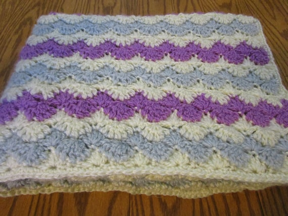 Easy Zig Zag Crochet Baby Blanket Pattern : Crochet Afghan Pattern, Easy Crochet Blanket Pattern, Zig ...