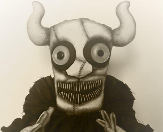 Scary Doll Victorian Horror Creepy Goth Doll