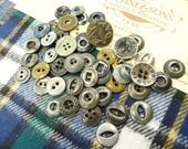 Cotton Plaid Fabric Sample Cards Old Shabby Chippy Paint Metal Work Shirt Overalls Chore Sewing Buttons Lot Destash Notions Supply