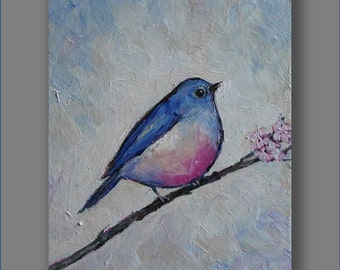 Bird Painting Acrylic  Painting Kids Art Acrylic Artworks  Original Acrylic Painting Christmas Gift Art Painting by Mirjana