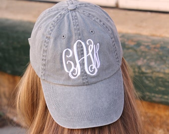 Monogrammed Baseball Hat...  Pigment dyed