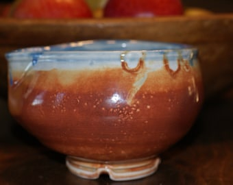 Ceramic Creamer, Gravy Boat, Small Pourer /  Blue Orange