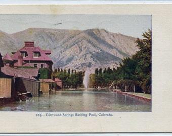 Glenwood Springs Bathing Pool Colorado 1908 postcard