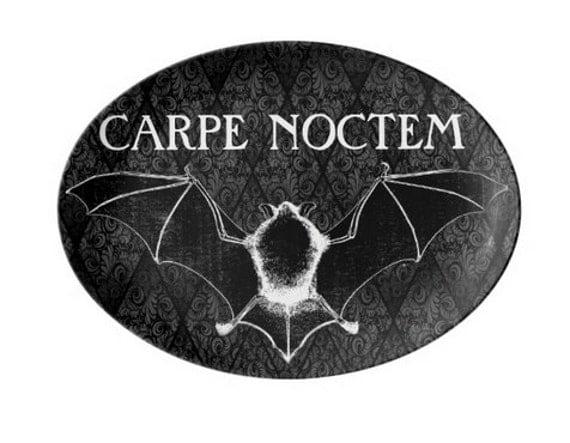 Carpe Noctem Vampire Bat Porcelain Platter