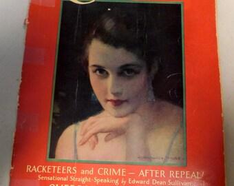 Vintage 1930's magazine Redbook Magazine August 1930 Art Deco Style Illustrations Advertising  Fiction