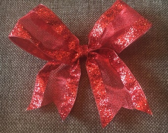Gorgeous red oversized hair bow