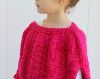 KNITTING PATTERN- The Lexi Cape (toddler, child and adult sizing).  Poncho.  Cape. Wrap