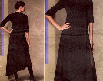 Sz 14/16/18/20 - Vogue Pattern V1135 by CHADO Ralph Rucci - Misses' Lined Dress with Diagonal Seams and Asymmetrical Hem - Vogue Designer