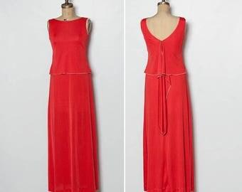 1970s maxi dress | vintage tank dress