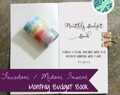 Fauxdori Midori Monthly Budget Spending Planner Tracker Insert