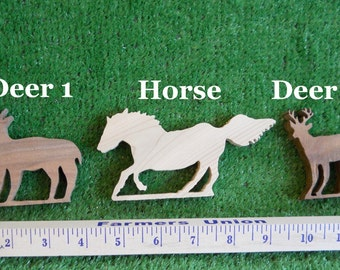 Wood Deer and Horse
