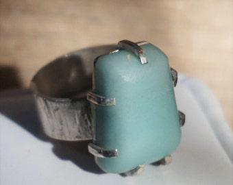 Artisan Handmade Sterling Silver Ring /  Size 11