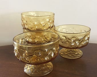 anchor hocking lido amber gold dessert or coupe set of 4